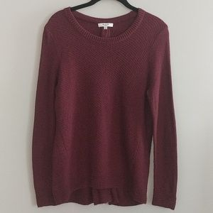 Madewell Sweater Zipper Back Maroon Size M